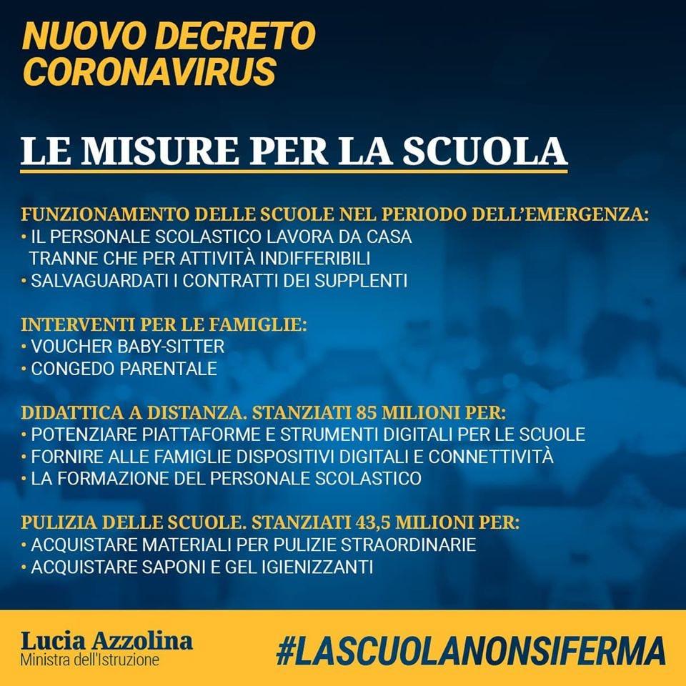 Cura Italia, 10.000€ a scuola per didattica a distanza!