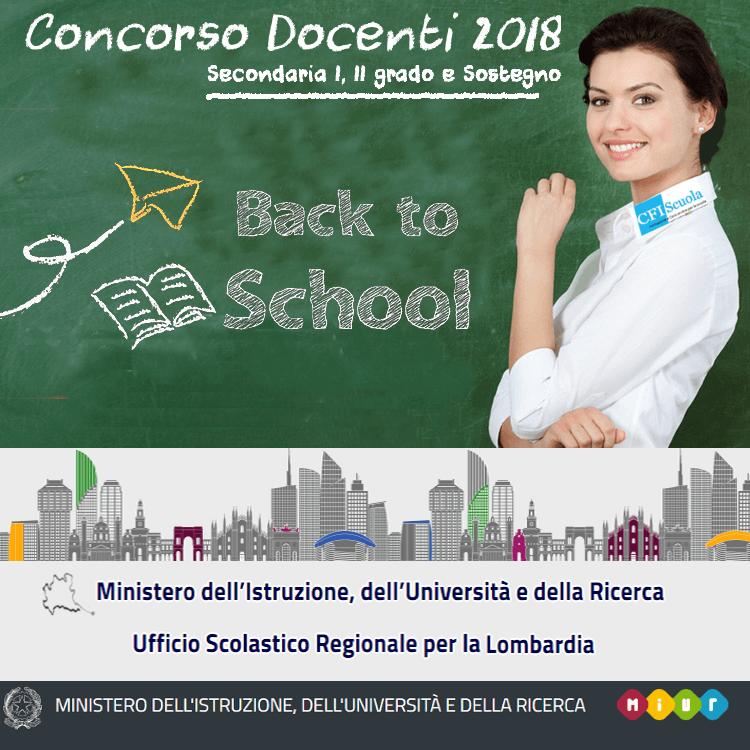 Concorso Docenti, si parte in Lombardia!