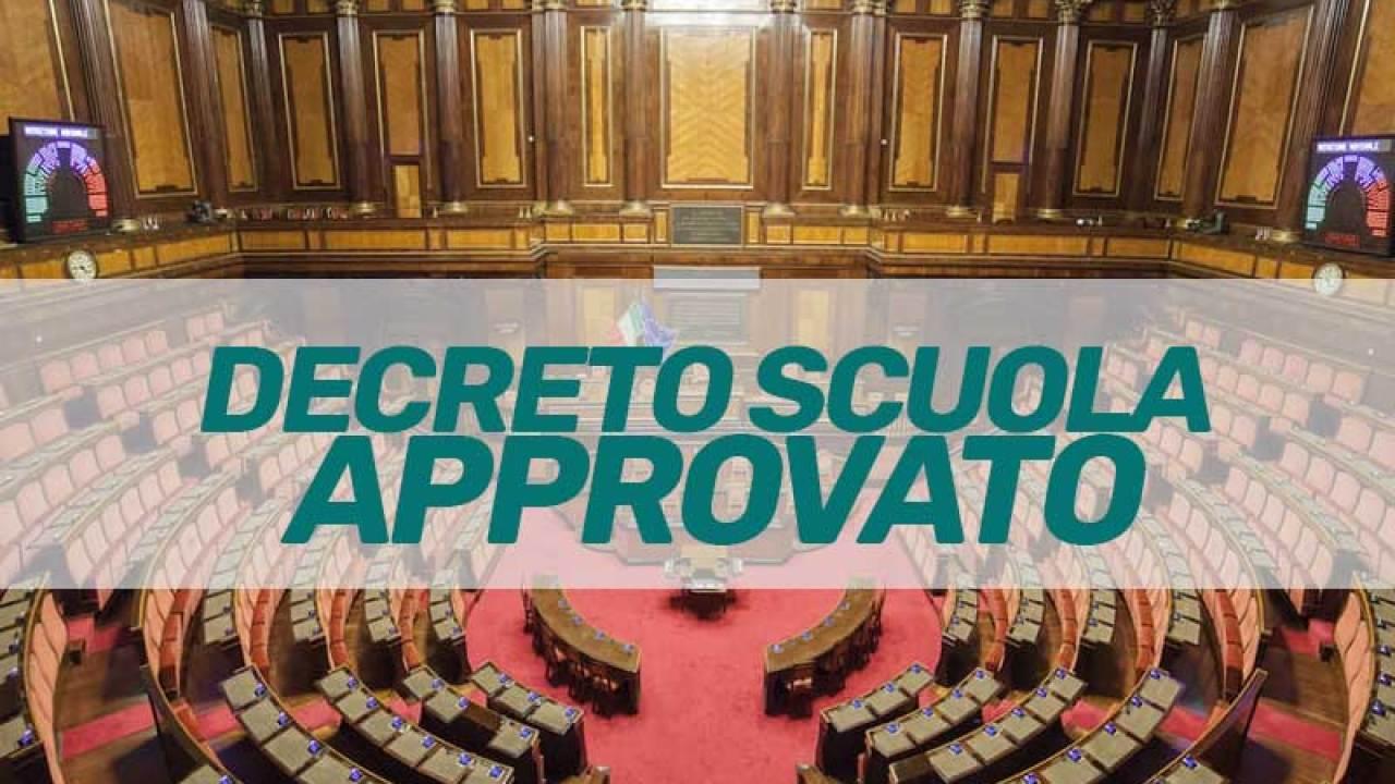 Decreto Scuola, sì a Graduatorie e Straordinario ruolo