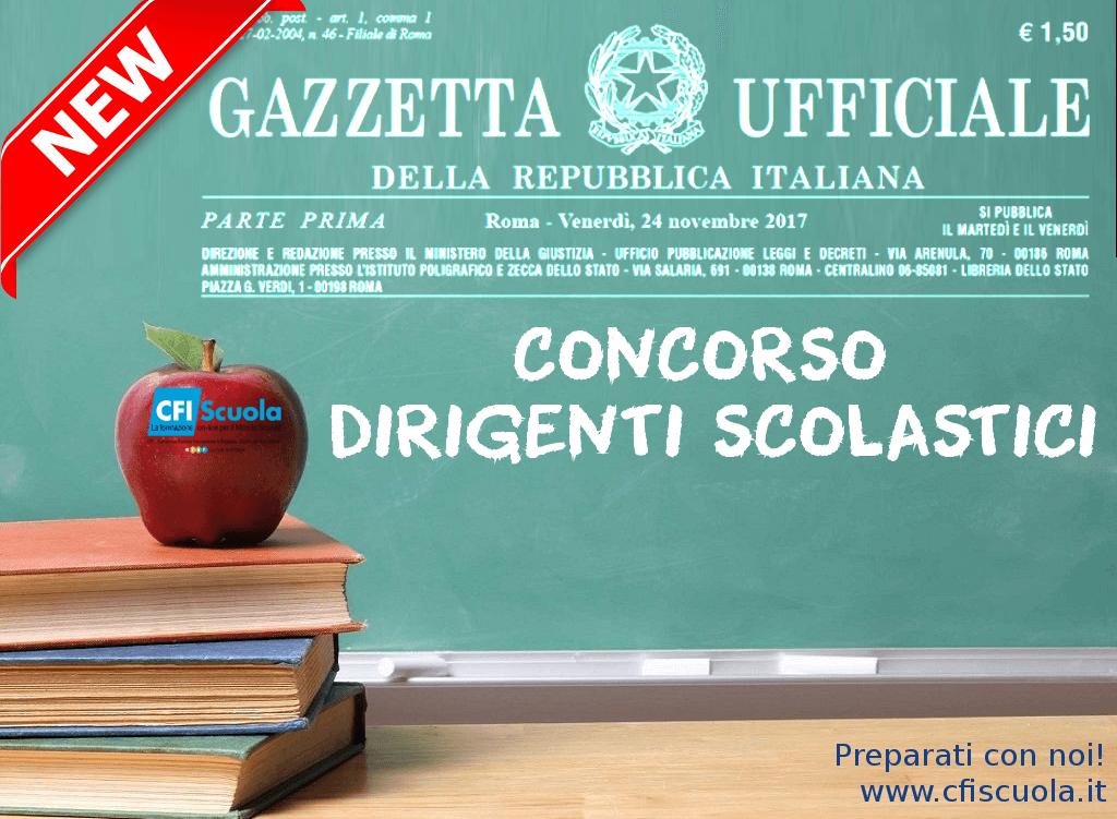 Bando del Concorso Dirigenti Scolastici in Gazzetta Ufficiale!
