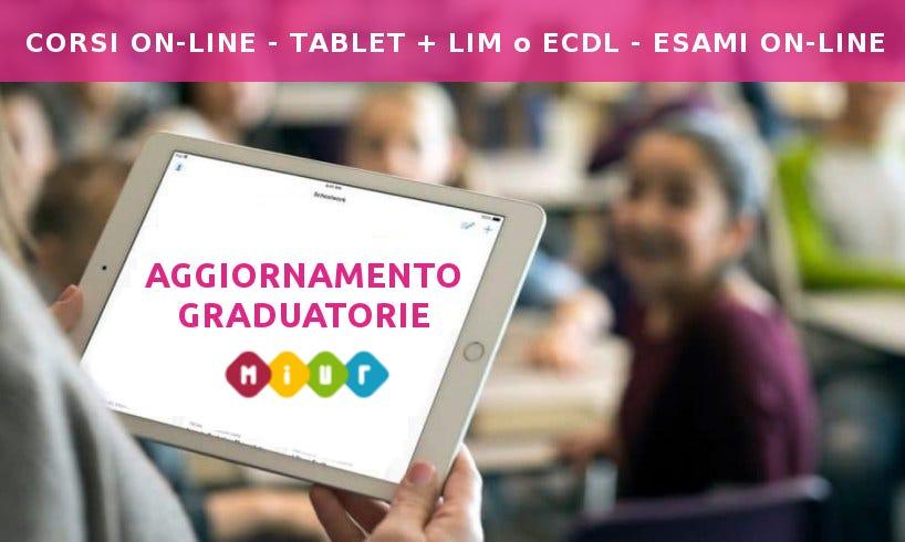 Corso on-line Tablet da 60€, fino a 2 punti in graduatoria!