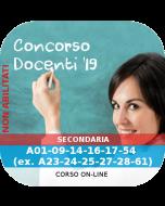Concorso Docenti Secondaria Ordinario - Corso online A01-09-14-16-17-54 (ex. A28-21-22-23-24-25-61)