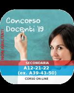 Concorso Docenti Secondaria Ordinario - Corso online: A12-21-22 (ex. A39-43-50)