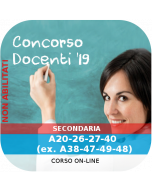 Concorso Docenti Secondaria Ordinario - Corso online: A20-26-27-47-B03 (ex. A38-47-49-48-C280-290)