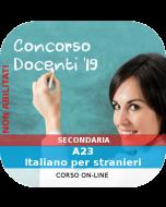 Concorso Docenti Secondaria Ordinario - Corso online: A23 Italiano per stranieri