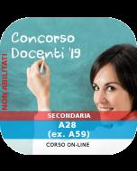 Concorso Docenti Secondaria Ordinario - Corso online: A28 (ex. A59)