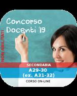Concorso Docenti Secondaria Ordinario - Corso online: A29-30-55-56 (ex. A31-32-77)