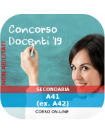 Concorso Docenti Secondaria Ordinario - Corso online: A41-B16 (ex. A42-C300-310)