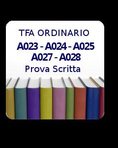 A023 - A024 - A025 - A027 - A028 - Prova scritta