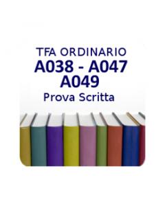 A038 - A047 - A049 - Prova scritta