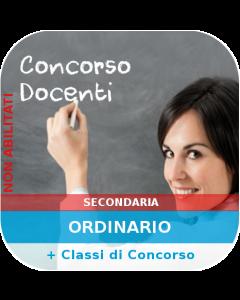 Concorso Secondaria Ordinario - Corso online Generale + Classi di concorso