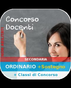 Concorso Secondaria Ordinario - Corso online Sostegno + Generale + Classi di concorso