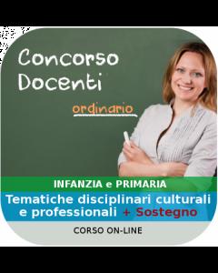 Concorso Docenti Infanzia e Primaria - Corso online Sostegno + Generale + Disciplinare
