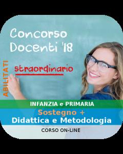 Concorso Docenti Infanzia e Primaria (orale) - Corso online: Sostegno + Didattica e Metodologia