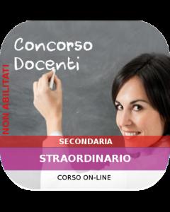 Concorso Secondaria Straordinario - Corso online Generale + Classi concorso