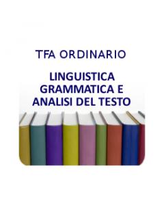 Linguistica, Grammatica, Analisi e Comprensione del Testo - Prova scritta