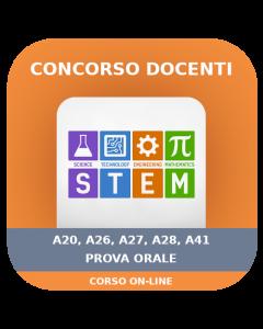 Concorso Docenti Secondaria STEM (A20-26-27-28-41) - Prova orale