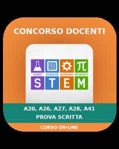 Concorso Docenti Secondaria STEM (A20-26-27-28-41) - Prova scritta