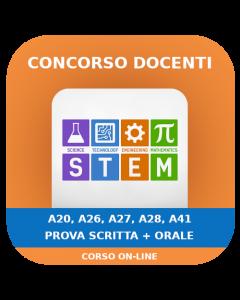 Concorso Docenti Secondaria STEM (A20-26-27-28-41) - Prova scritta + orale