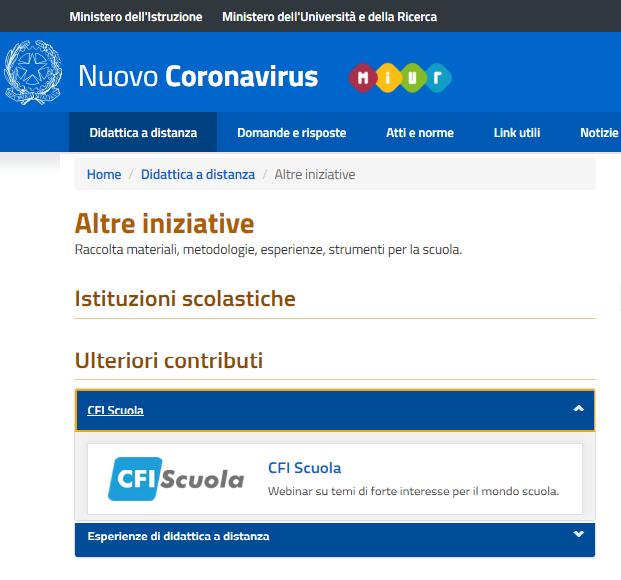 Il MIUR promuove i webinar gratuiti di CFIScuola!