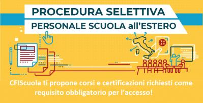 Personale all'estero dal I giugno, segui il webinar gratuito di CFIScuola!